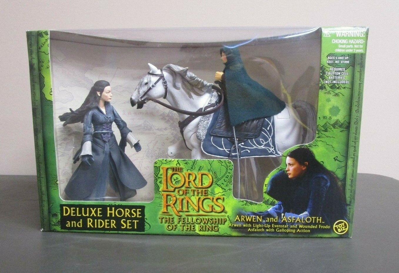 Arwen e  Asfaloth Deluxe Rider Set LORD OF THE RINGS FOTR MIB GV  negozio all'ingrosso