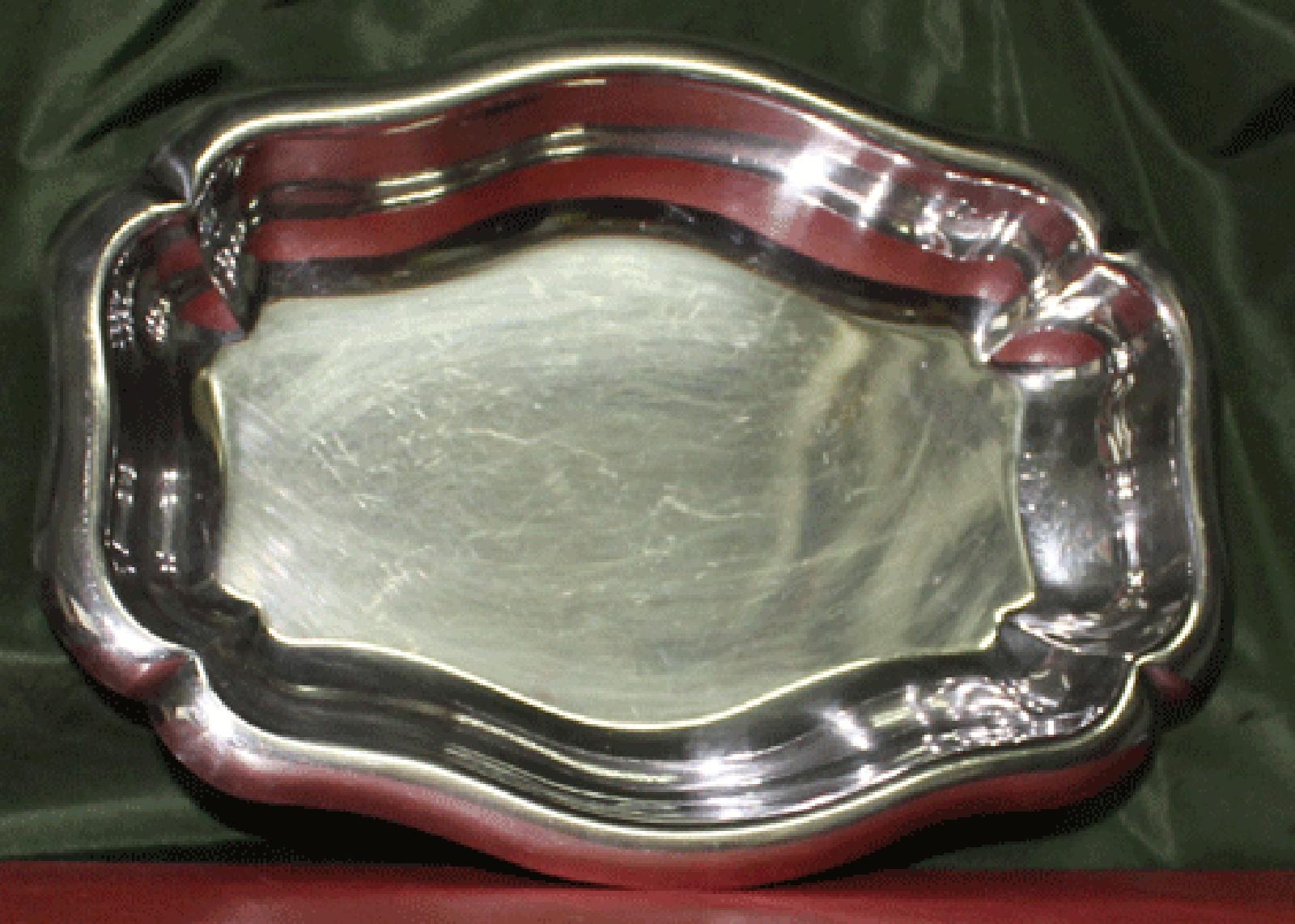 Plat en métal argenté Ravinet Denfert