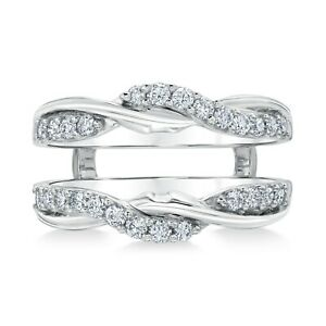 2-Ct-Round-Diamond-14K-White-Gold-Twist-Enhancer-Engagement-Wedding-Band-Ring