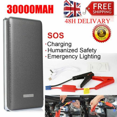 30000mAh Portable Car Jump Starter 12V Booster Charger Battery Power Bank SOS /'