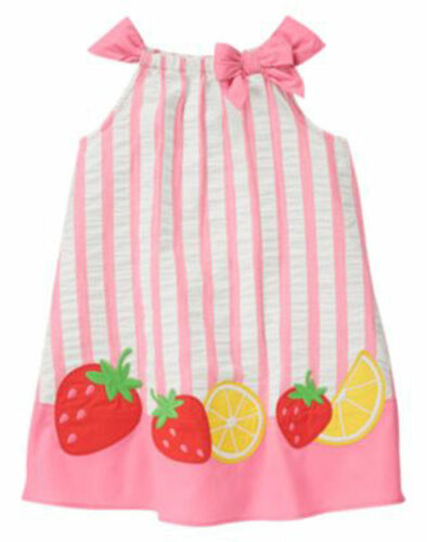 NWT Gymboree STRAWBERRY SWEETHEART Seersucker SunDress Dress 2T 3T 4T 5T