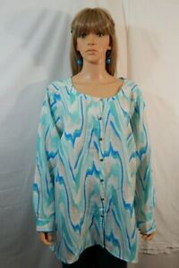 NWT-NEW-Women-039-s-JM-Collection-Size-3X-26-28-Top-Shirt-Blouse-Casual-Work-Clothes