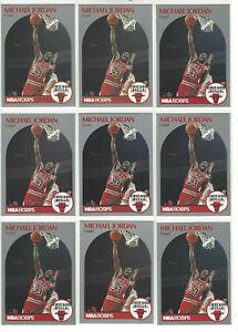 MICHAEL-JORDAN-1990-NBA-Hoops-Basketball-65-27-CARD-LOT-CHICAGO-BULLS-HOF
