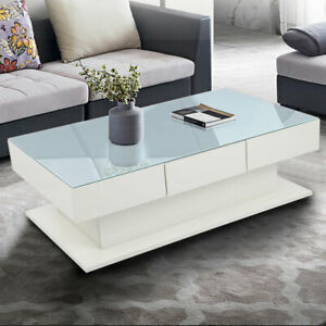 High-Gloss-Coffee-Table-2-Storage-Drawers-Tempered-Glass-Side-Table-Living-Room