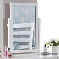 Edward Hopper Large White Dressing Table Mirror, Stunning Beveled Mirror,quality