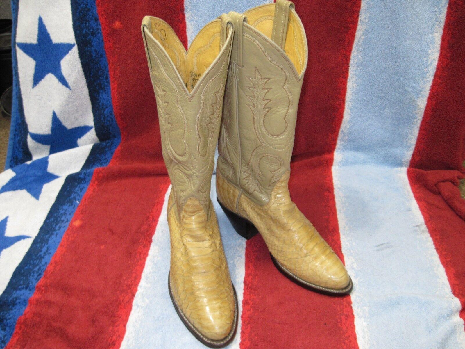 Vintage Vintage Vintage Tony Lama Women Snakeskin Western Boots Sz. 5 B, Light Honey Tan VNice 287a09