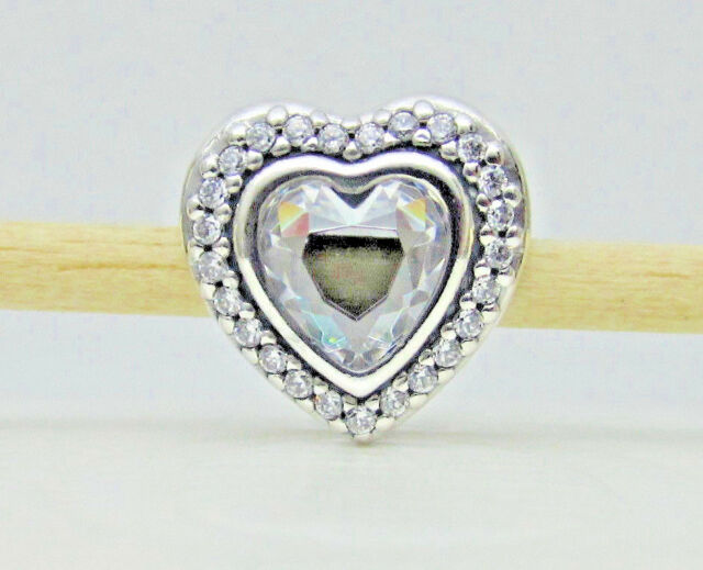 0d8372cce0184 Authentic Pandora  797608CZ Sterling Silver Sparkling Love Bead with Clear  CZ