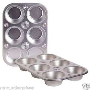 6 Cup Steel Muffin Cooking Pan Bakeware Free Shipping