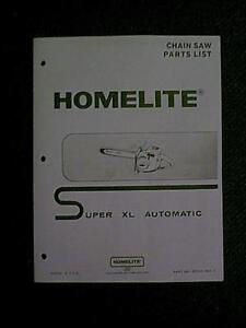 image is loading homelite-super-xl-automatic-chain-saw-parts-manual