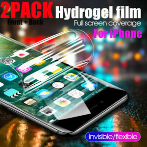 2-PACK-Hydrogel-Screen-Protector-Soft-Slim-Film-For-iPhone-XR-Xs-Max-7-8-Plus