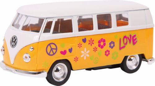 Modello di auto vw´63 t1 bus BULLY 1:34 ritiro automatico modello veicolo NUOVO hippie