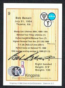 Bob-Benoit-9-signed-autograph-auto-1990-Kingpins-PBA-Bowling-Trading-Card