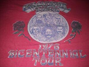 GRATEFUL-DEAD-BAND-PHOTO-BICENTENNIAL-TOUR-1976-ROSES-CONCERT-VTG-T-SHIRT-RARE