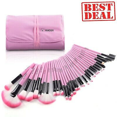 makeup brushes 32pcs professional soft synthetic  free