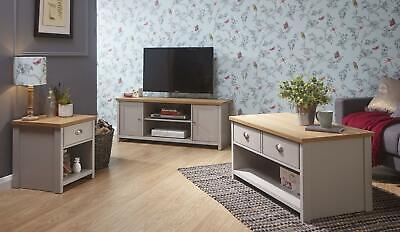 Lancaster Living Room Furniture Coffee Table Lamp Table Tv Cabinet Cream Grey Ebay