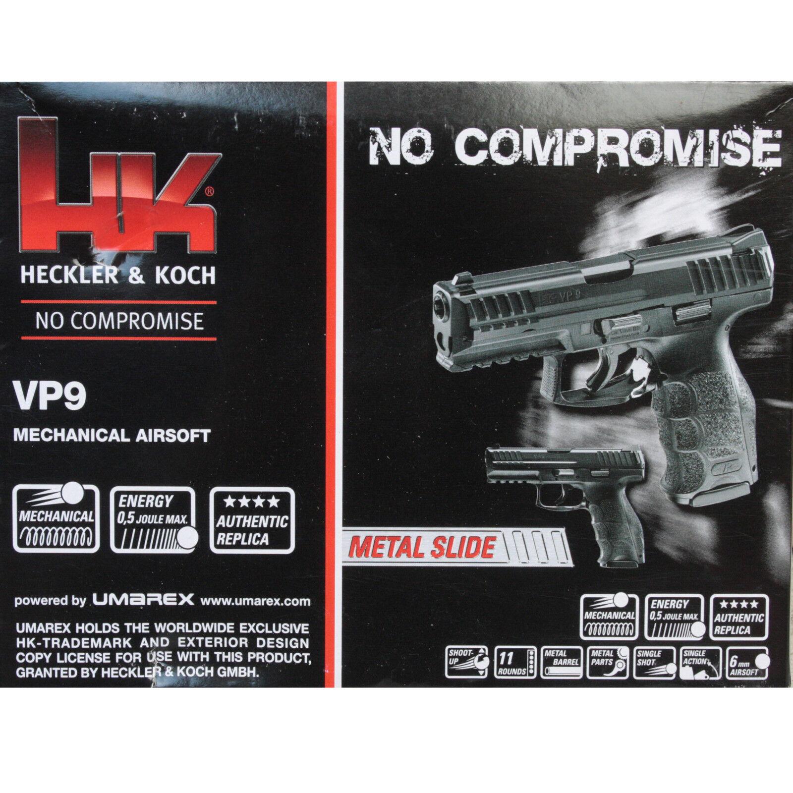 Heckler & & & Koch VP9-HME Airsoft Pistole Metallschlitten Federdruck <0 5 Joule ad85f9