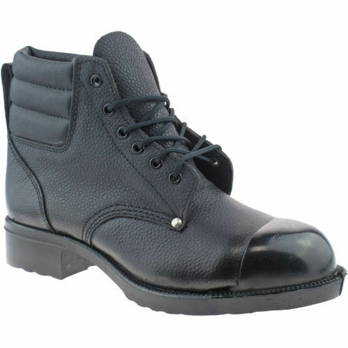 EXTERNAL STEEL TOE CAP WORK GRAFTERS LEATHER SAFETY BOOTS MENS SIZE UK 7-12