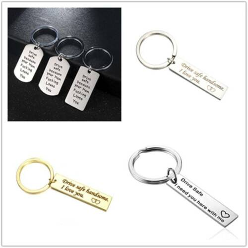 Drive Safe Stainless Steel Keychain Keyring for Son Father Dad Husband BF Gift
