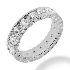 2.73 ct DIAMOND Eternity Ring 14k WhiteGold Band Channel set 0.16 ct each VS/SI1