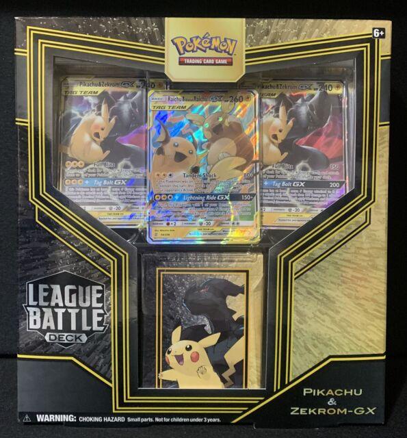 Pokemon Pikachu /& Zekrom GX League Battle Deck Sealed NEW English