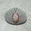Rose-Quartz-Cameo-Necklace-Jewelry-Antique-Silver miniature 5