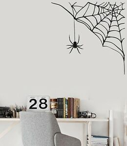 Details about Vinyl Wall Decal Spider Web Funny Halloween Decorating Room  Stickers (ig5144)