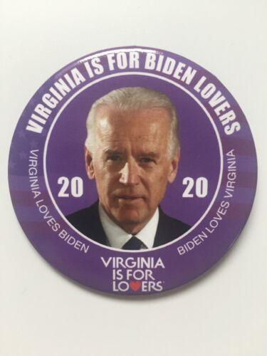 "2020 Vice President Joe Biden for President 3/"" Button Virginia is for Lovers Pin"