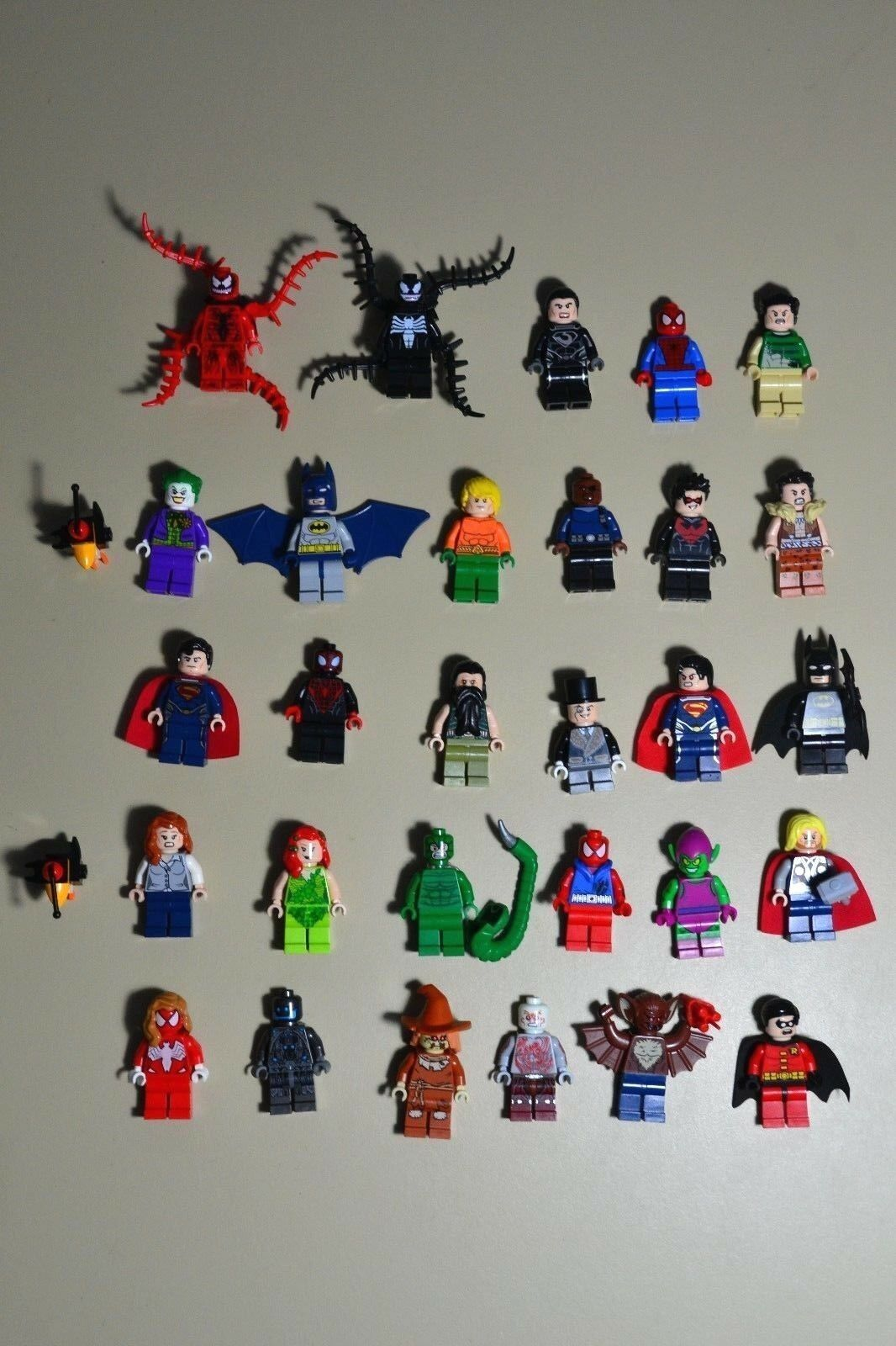 Lego Marvel DC minifigures Super Heroes Lot authentic.
