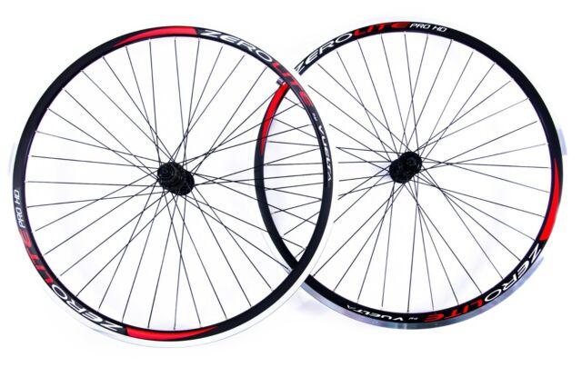 Vuelta Zerolite 700c Pro Road Bike Wheel Set in Black