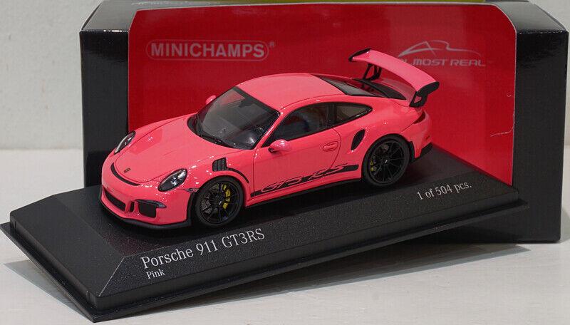 MINICHAMPS 1 43 PORSCHE 911 (991) GT3 RS 2015  presque réel  Rose SPECIAL PROMO