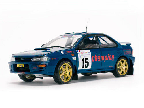 SUNSTAR 5511 SUBARU IMPREZA 555 model car MassGoldtto Bouzat T de Corse 1996 1 18