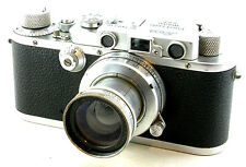 Vintage Leica IIIa w/SUMMAR f/2 Lens and Original Leica Case