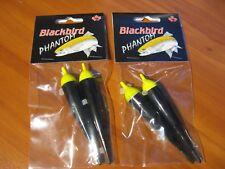 2 Packs Redwing Blackbird Phantom Black Fishing Float Bobber 4.0 Gram Red Tops