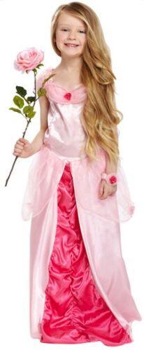 Kids Girls Rosa dormire Principessa Libro Giorno Costume Outfit 3-12 anni
