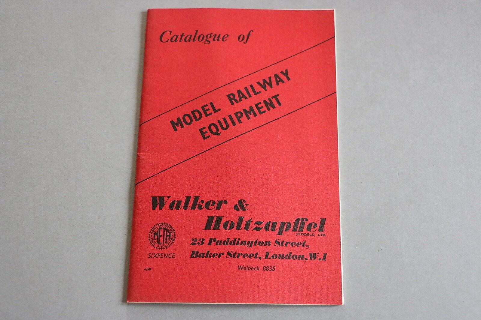 X475 WALKER HOLTZAPFELL Train catalogueTT O OO 1958 Model railway equipment