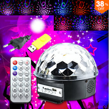 18W LED RGB Crystal Magic Ball Disco Xmas Party Effect Digital Stage Lighting