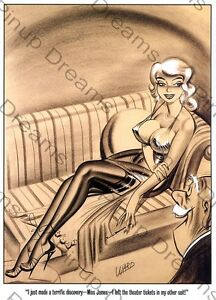 A3, Classic 1940s//50s Vintage Art of Bill Ward Pin-up Poster re-print A4