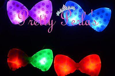 Light Up Minnie Mouse Headband Flashing Bow Polka Dot Blinking LED Party-Rave