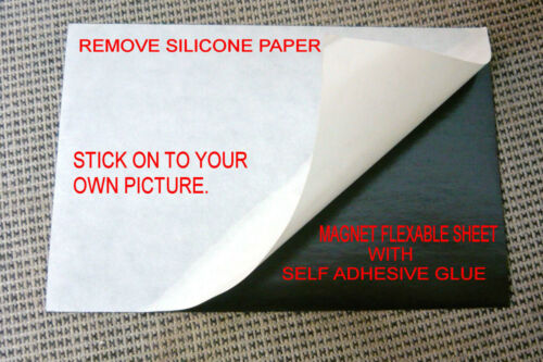 """8+1 flexible magnet sheet,self adhesive one side silicone paper.10X15 cm \ֳ4X6/"""""""