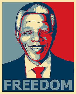 Nelson Mandela Freedom Canvas Print Decor, Choose Your Size !!!
