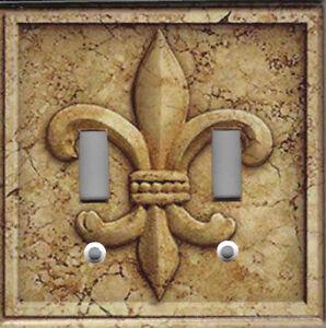 Details About French Fleur De Lis Stone Image Kitchen Decor Light Switch Plates And Outlets
