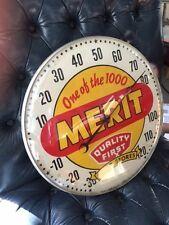 Original RARE Merit Drug Stores Glass Faced PAM Advertising Thermometer