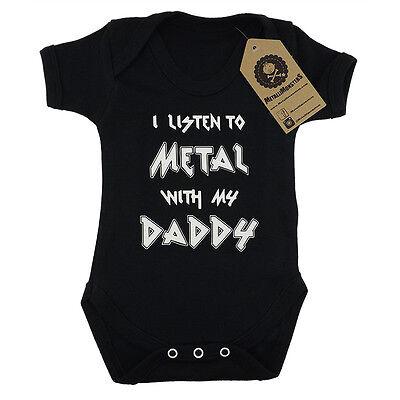 Metallimonsters Metal Daddy vest alternative goth punk rock metal baby onesie