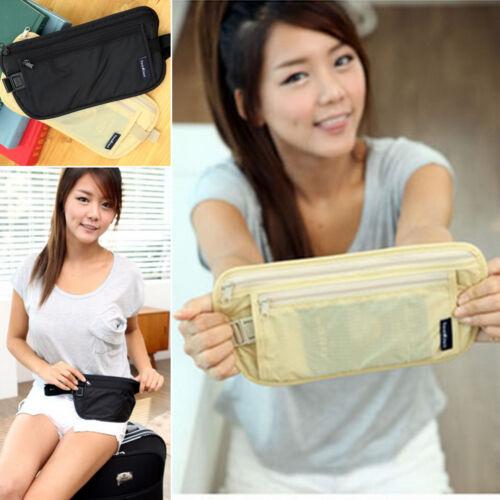 Travel Slim Hidden Fanny Pack Money Waist Bag Belt Zip Security Pouch Men Women
