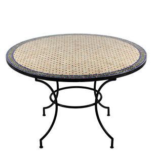 Marokkanischer Mosaiktisch O 120cm Esstisch Mosaik Tisch Orient