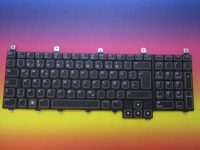 Dell Alienware M17x M18x German Keyboard 0MND7V NSK-D8D0G Backlit Lighting