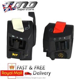 Dual-Handlebar-Motorcycle-Control-Universal-Switch-Light-Indicators-Choke-Lever