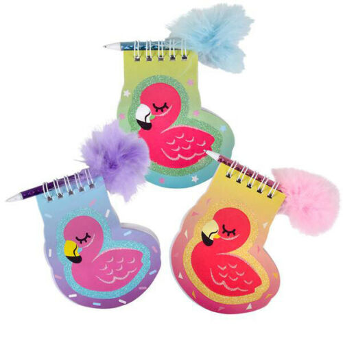 12 PC Flamingo Notebook with Feather Pen Party Favors Stationery School Supplies