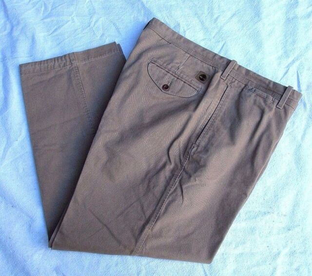 TIMBERLAND Heavy Cotton Khaki Straight Leg Brush Denim Casual Pant Slacks 38.30