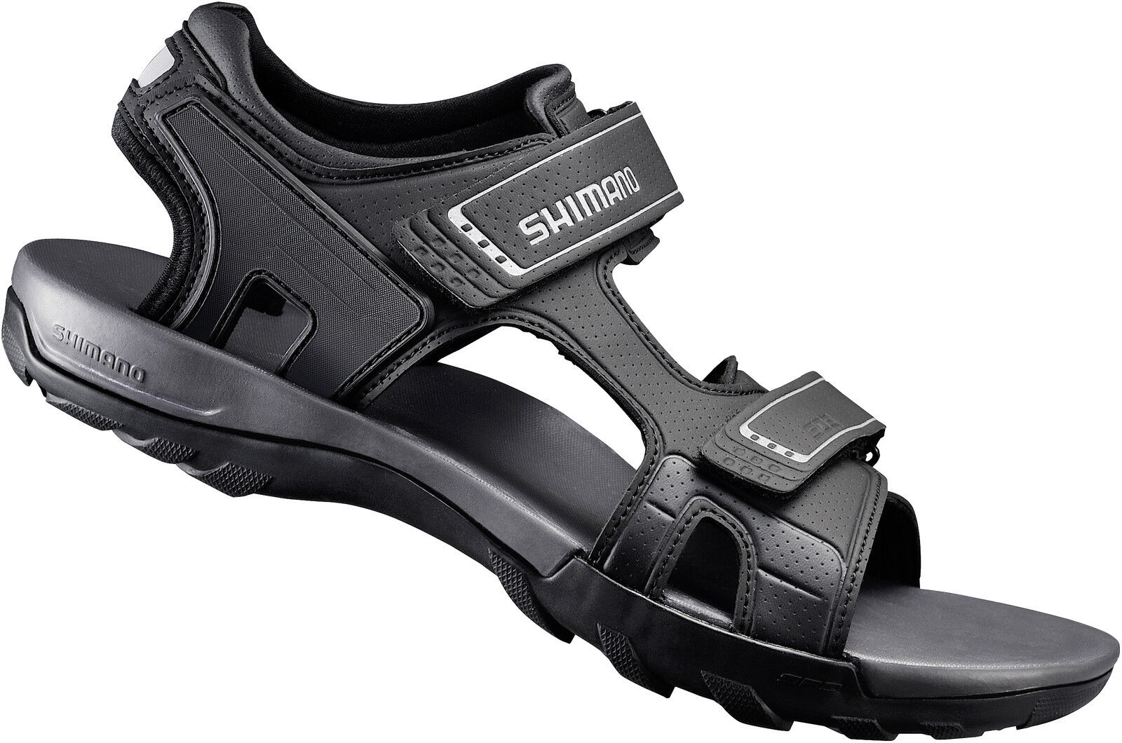 Shimano Bicicletta Sandalo Scarpe Bicicletta shsd5g Nero clic PEDALI adatto